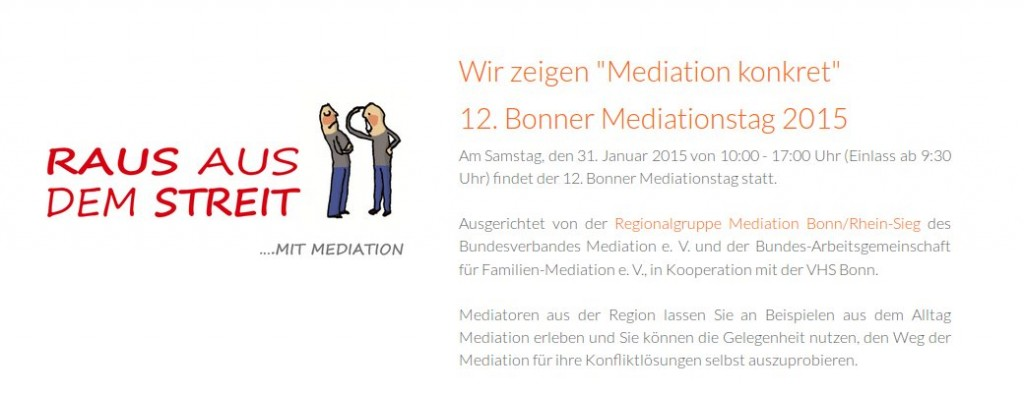 Flyer zum Mediationstag 2015